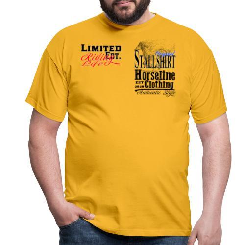 Limited Edition Stallshirt Pferde Reiten - Männer T-Shirt