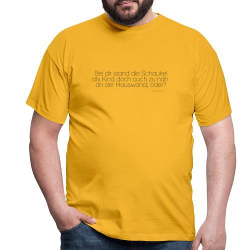 Abstand halten rettet Gehirnzellen - Männer T-Shirt