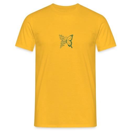 Butterfly Schrift - Männer T-Shirt