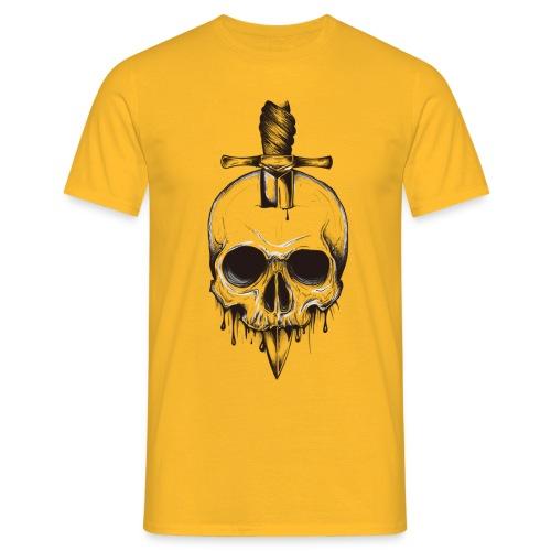 skull horor blood - T-shirt Homme