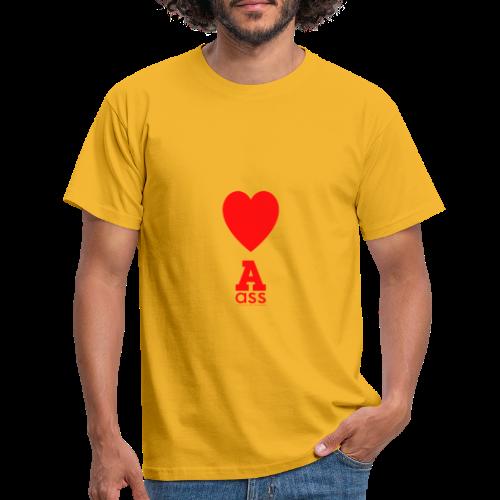 HERZ ASS - Männer T-Shirt