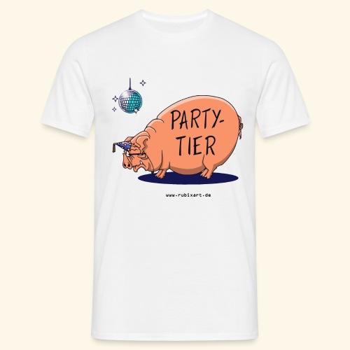 Partytier Schwein Fete Feier Party Sau - Männer T-Shirt