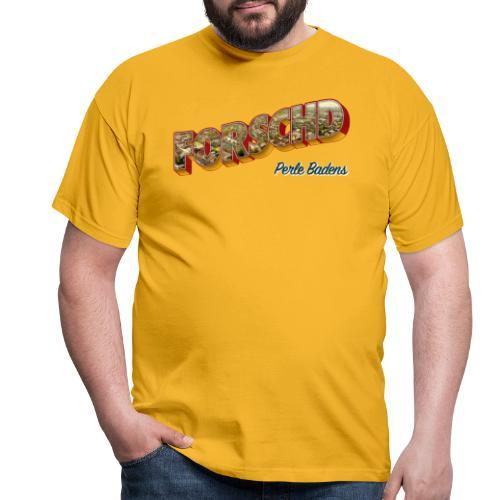 Forschd - Perle Badens - Vintage-Logo mit Luftbild - Männer T-Shirt