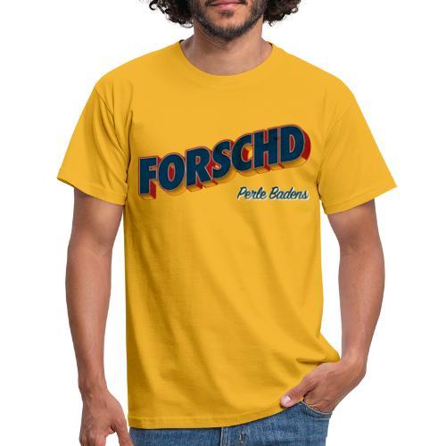 Forschd - Perle Badens - Vintage Logo ohne Bild - Männer T-Shirt