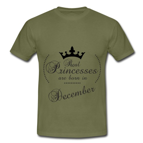 Real Princesses black December - Männer T-Shirt