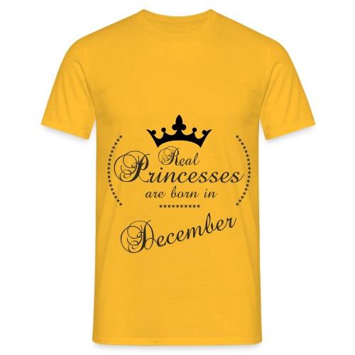 Real Princesses black December - Männer T-Shirt