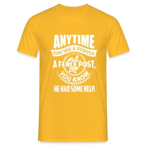 Turtle - T-skjorte for menn