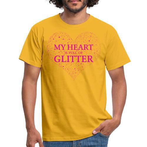 Herz Glitzer - Männer T-Shirt