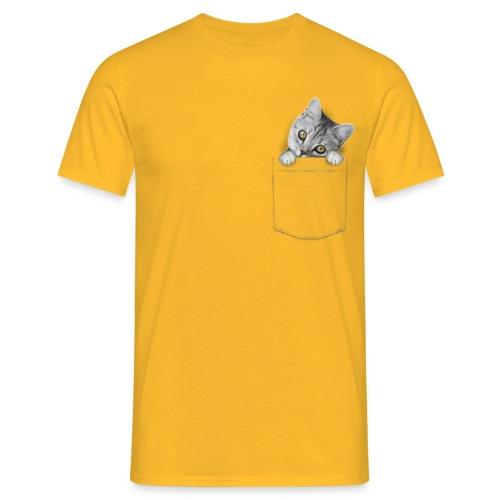 Vorschau: cat pocket - Männer T-Shirt