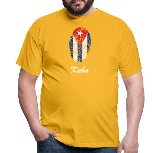 Kuba Fingerabdruck - Männer T-Shirt