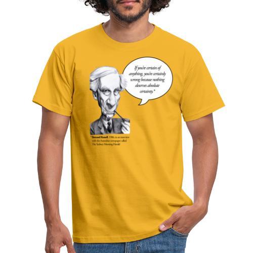 Bertrand Russell on certainties - Männer T-Shirt
