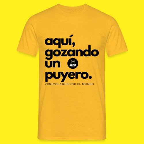 aqui gozando un puyero - Camiseta hombre