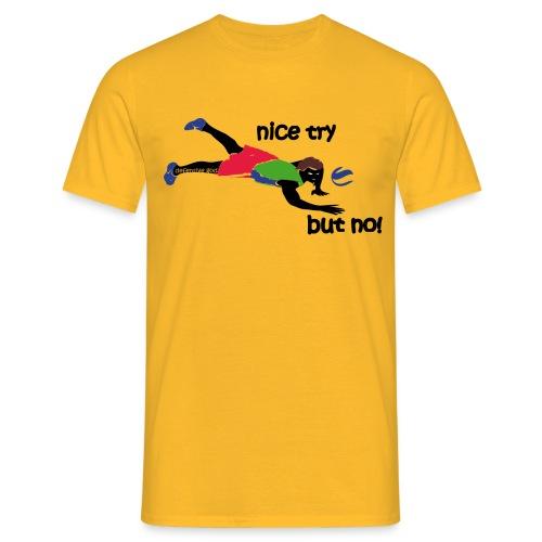 defensive god volleyball - Männer T-Shirt