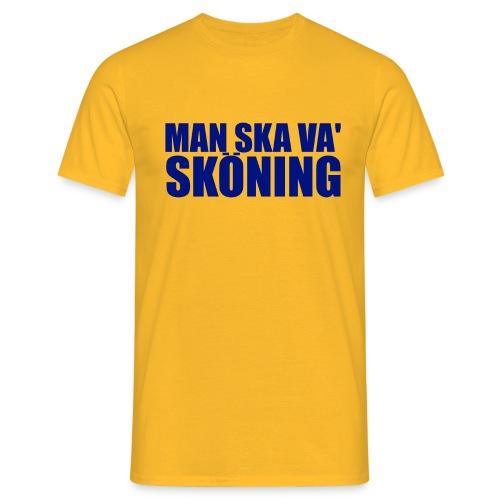 skoningblue2 - T-shirt herr