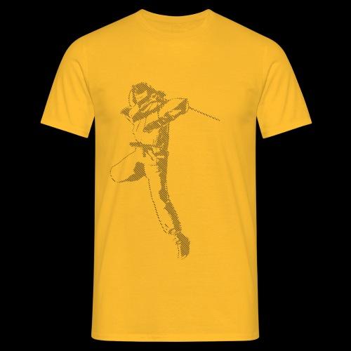 canniste lignes noir - T-shirt Homme