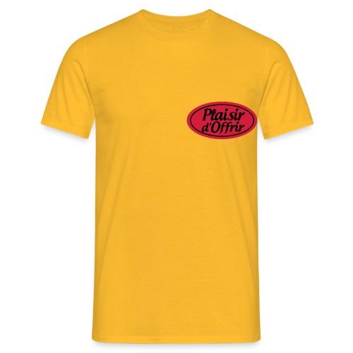 plaisirdoffrir logo tshirt plaisirdoffri - T-shirt Homme