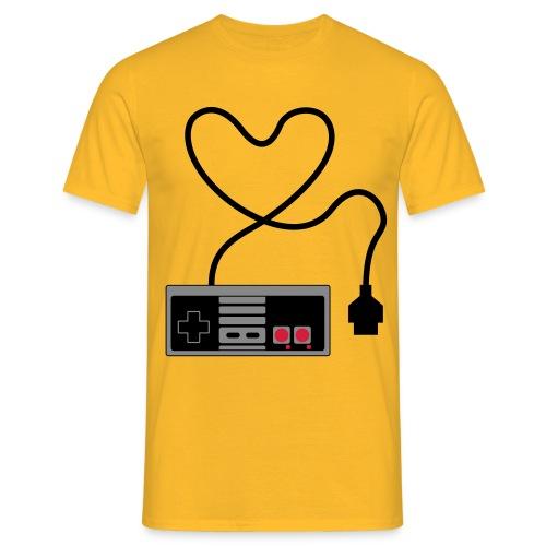 NES Controller Heart - Men's T-Shirt