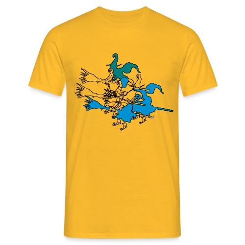 Witches on broomsticks Men's T-Shirt - Men's T-Shirt