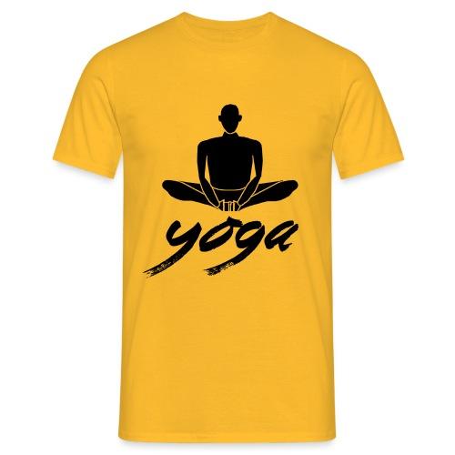 yoga nero yogi namaste pace amore arte hippie - Maglietta da uomo