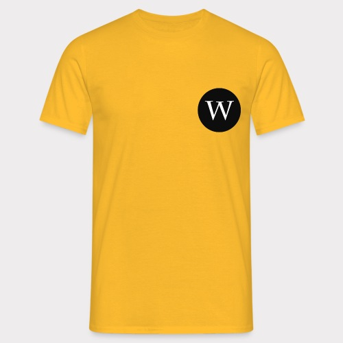 WHITE W CIRCLE - Men's T-Shirt