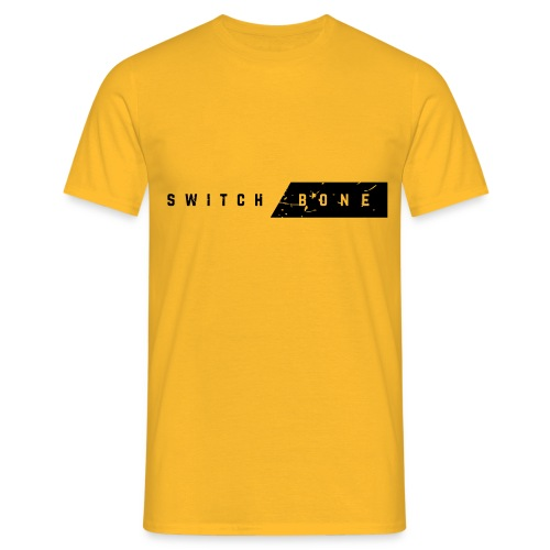 Switchbone_black - Mannen T-shirt