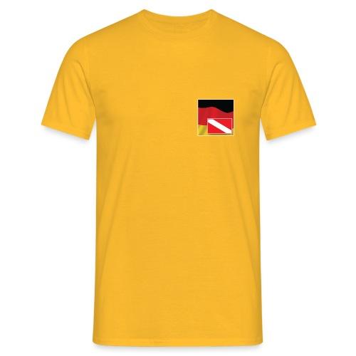 Tauchrevier Deutschland Logo - Männer T-Shirt