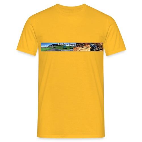bannerkontur4k - Männer T-Shirt