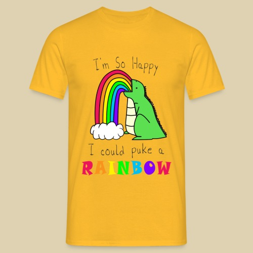 puke a rainbow png - Men's T-Shirt