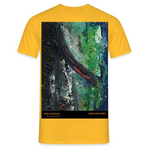 aliens-shirt-with-text - Men's T-Shirt