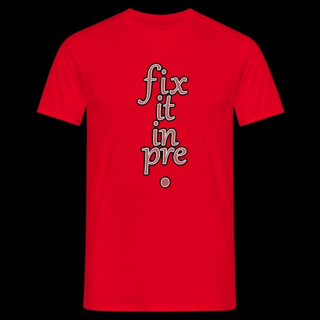 fix it in pre
