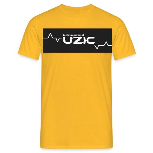 uzic logoblanc300 orig - Men's T-Shirt