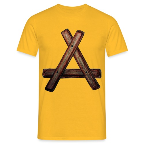 A aus HOLZ - Männer T-Shirt