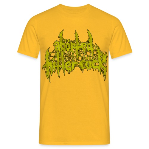 AxHxCx Logo in Vomitology Green - Men's T-Shirt