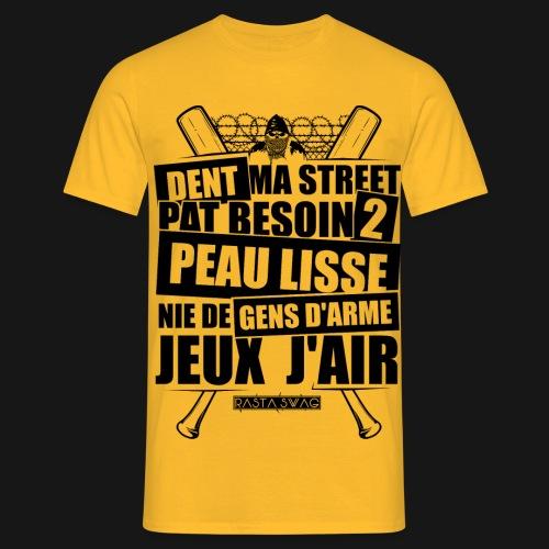 DansMAStreet2 black front png - T-shirt Homme