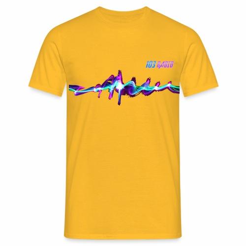 103radio fiber trsp - T-shirt Homme