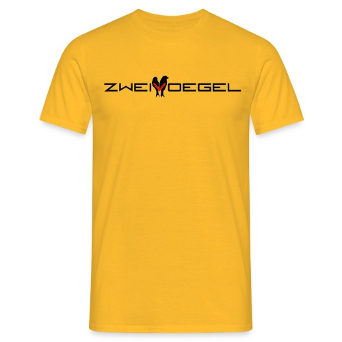 Zweivoegel Logo png sw png - Männer T-Shirt