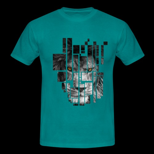 Pixel Lion Tattoo Inspire - Men's T-Shirt