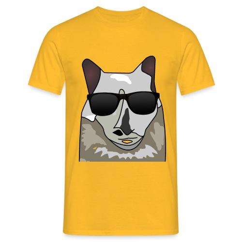 Katze mit Sonnenbrille - Männer T-Shirt