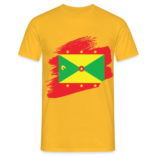 GRENADA BRUSH STROKE DESIGN - Men's T-Shirt