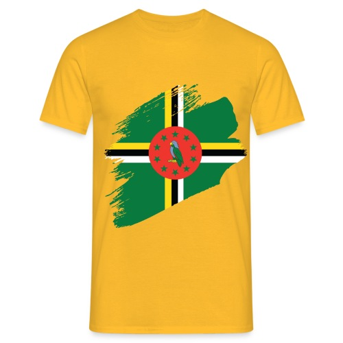 Brushstroke Flag - Dominica - Men's T-Shirt