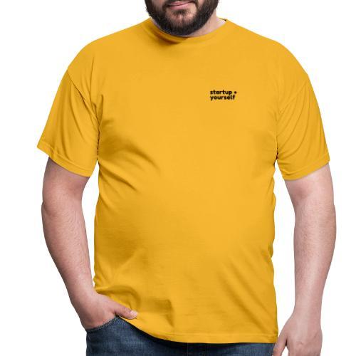 startup+yourself - Männer T-Shirt