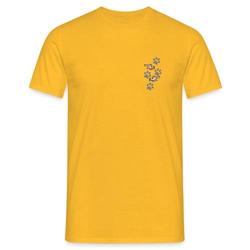 2 liegende Hunde - Männer T-Shirt