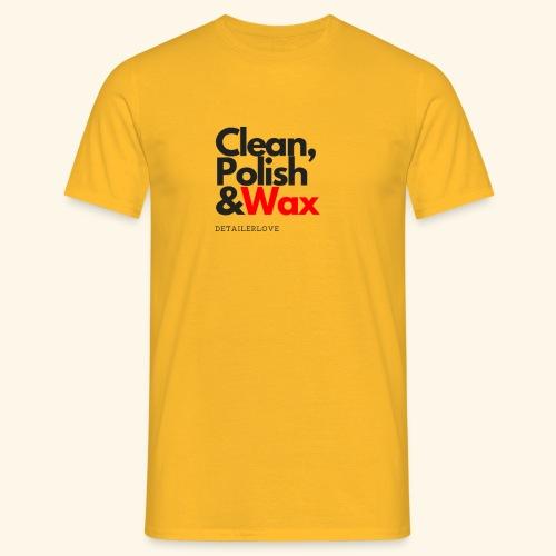 Clean,polish en wax - Mannen T-shirt