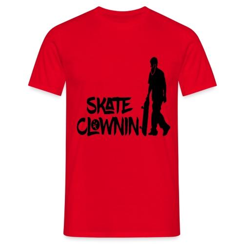 Skateclowninallblackno bg gif - Men's T-Shirt