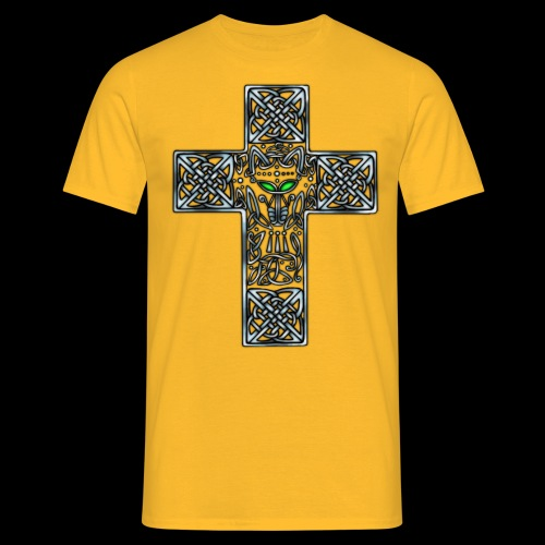 Wolf s Head Cross Silver - Men's T-Shirt