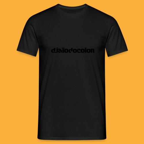 DJATODOCOLOR LOGO NEGRO - Camiseta hombre
