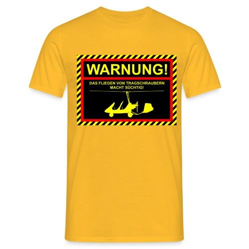 warnungmtosport - Männer T-Shirt