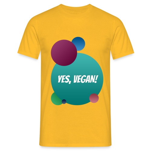 Yes, vegan! - Männer T-Shirt