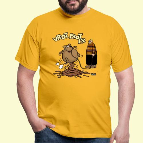 DIRKJAN Hondenpoep - Mannen T-shirt