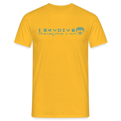 i_skydive_therefore_i_am - Men's T-Shirt
